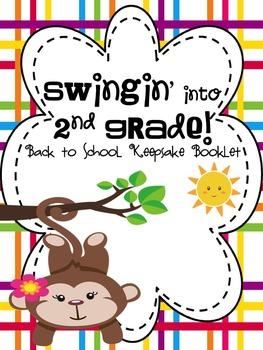 Swingin' into 2nd Grade: A Back to School Keepsake Book