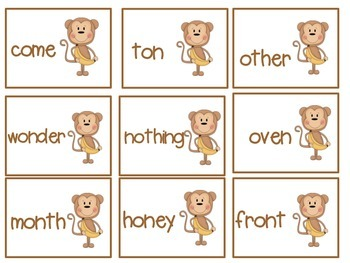 Swinging With Schwa! Word Sorts and I Have, Who Has? Game