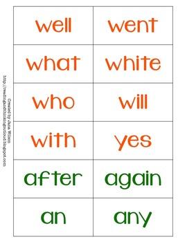 Swingo for All Seasons (Sight Word Bingo)