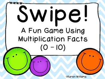 Swipe!  Multiplication Facts Game