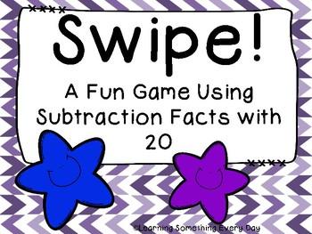 Swipe! Subtraction Facts  Freebie!