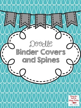 Doodle Binder Covers and Spines- EDITABLE