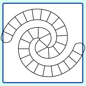 Swirl Board Game Templates Clip Art Set for Commercial Use