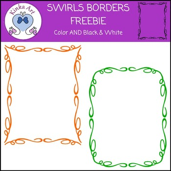 Swirl Borders FREEBIE