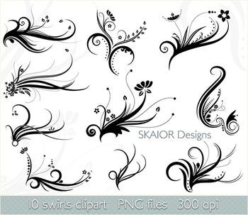 Swirl Clipart Flourish Clip Art