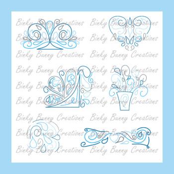 Swirl Doodle Designs Clip Art Blue Clipart Images Graphics