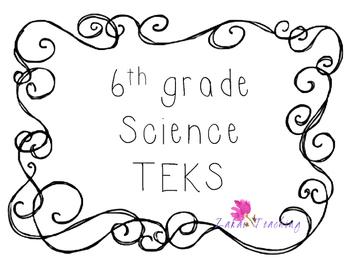 Swirls 6th grade Science TEKS