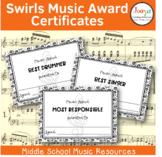 Swirls Music Award Certificates