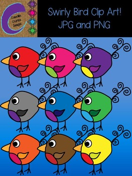 Swirly Bird Clip Art Color Images Ball