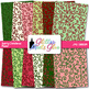 Swirly Curly Christmas Paper {Scrapbook Backgrounds for Ta