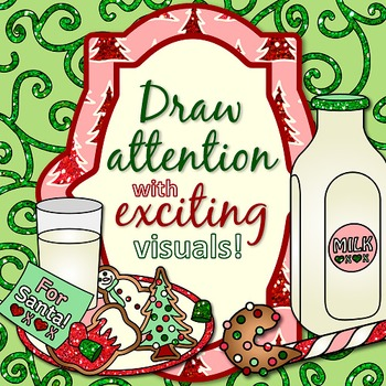 Swirly Christmas Clip Art Paper {Scrapbook Backgrounds for Task Card & Brag Tag}