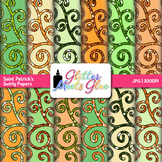 Saint Patrick's Swirly Paper | Scrapbook Backgrounds for Task Cards & Brag Tags