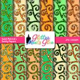 Saint Patrick's Swirly Paper {Scrapbook Backgrounds for Ta