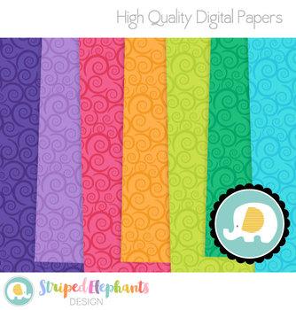 Swirly Digital Papers