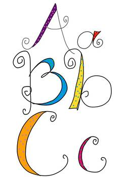 Swirly Dot Alphabet Clip Art {PNG Transparent Files} {Product Use OK}