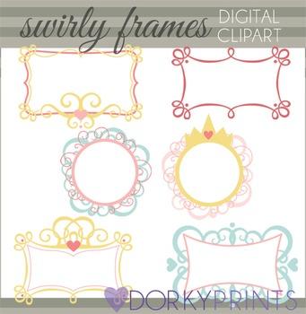 Swirly Frames Clip Art