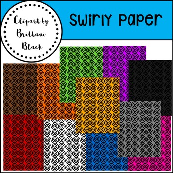Swirly Paper~ Clipart
