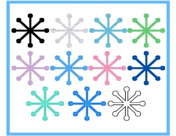 Swirly Snowflake Graphics Collection