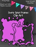 Swirly Splat Frames- Black and White Master Included!