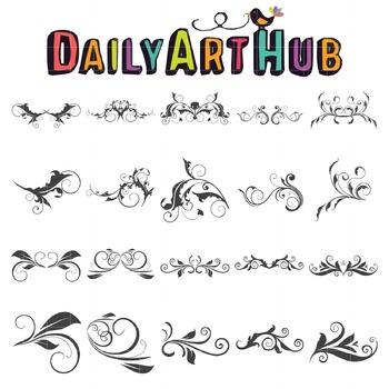 Swirly Swirls Clip Art - Great for Art Class Projects!