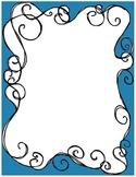 Swirly Teal border