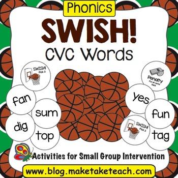 CVC Words- Swish! A Basketball Game