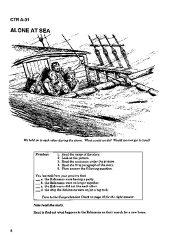 Swiss Family Robinson 10 Chapter Novel with Student Activities and Answer Keys