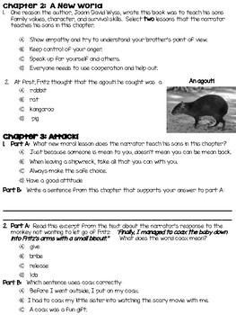 Swiss Family Robinson Comprehension Questions