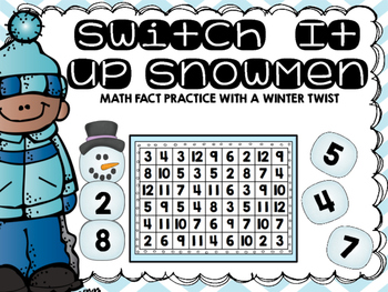 Switch It Up Snowemen: Math Fact Practice