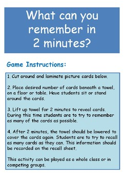 Switch On Concentration Memory Game