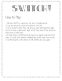 Switch - Sight Words Game