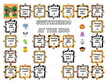 Switcheroo at the Zoo - CVC letter substitution