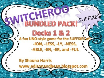 Switcheroo game for SUFFIXES!