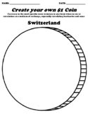 Switzerland $1 Coin Worksheet W/Currency Word Search