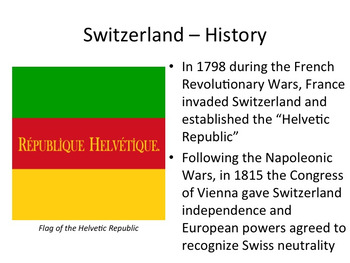 Switzerland PowerPoint