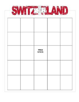 Switzerland Bingo