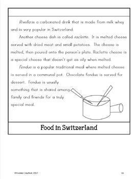 Switzerland Copywork, Activities, and Country Booklet