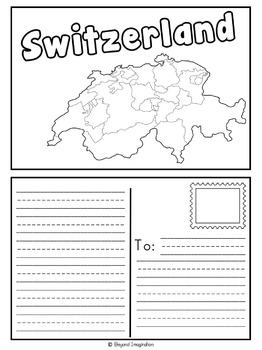 Switzerland Country Study | 48 Pages for Differentiated Learning + Bonus Pages