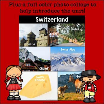 Switzerland Mini Book for Early Readers - A Country Study