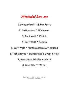 Switzerland ~ Swiss * Pac 1