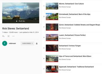 Switzerland Tourism Videos with Guide (in English) (die Schweiz)