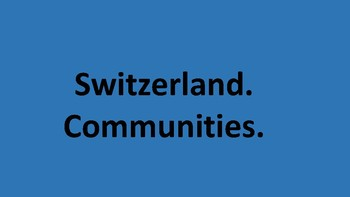 Switzerland - communities