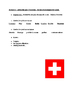 Switzerland exploration handout for French classes