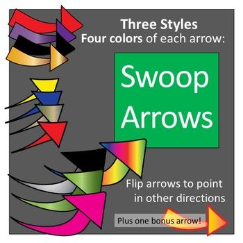 Swoop Arrows Clip Art