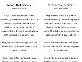 Swoop the Decimal
