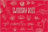 Swooshy Boys - Swirly Fancy Dingbat Font