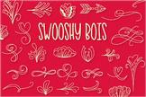 Swooshy Boys - Swirly Fancy Dingbat Font