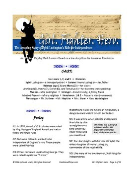 Sybil Ludington Reader's Theater from the American Revolution