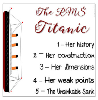 Titanic Informational Text Flapbook