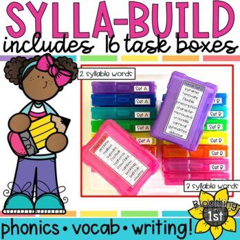 Sylla-Build Multi-Syllabic Word Work BUNDLE 16 sets!